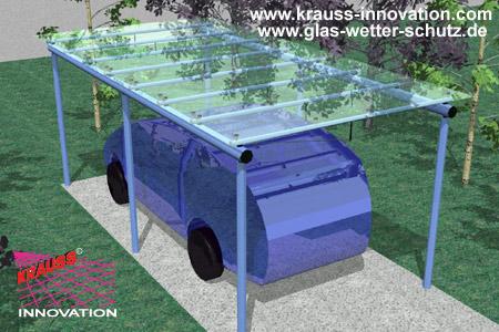 GLASCARPORT von KRAUSS, die Glas-Carport\'s aus dem GWS System ...