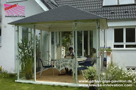 glaspavillon pavillon direkt vom hersteller krauss gmbh krauss innovation ltd d 88285. Black Bedroom Furniture Sets. Home Design Ideas