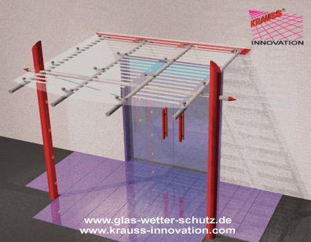 glasdach als eingangsueberdachung von krauss gmbh ahornstr 26 88285 bodnegg rotheidlen. Black Bedroom Furniture Sets. Home Design Ideas