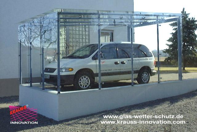 glas carport aus glas direkt vom hersteller krauss gmbh. Black Bedroom Furniture Sets. Home Design Ideas