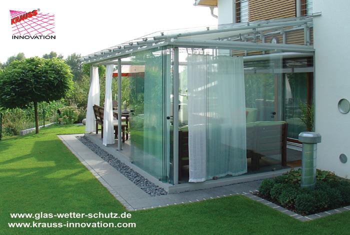 Geliebte Terrassen Verglasung mit Glasschiebetueren direkt vom Hersteller &OO_84