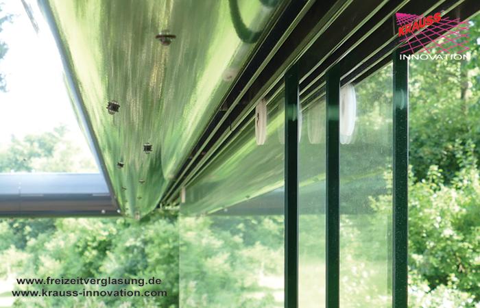 schwebende terrasse mit verglasung direkt vom hersteller krauss gmbh krauss innovation ltd d. Black Bedroom Furniture Sets. Home Design Ideas