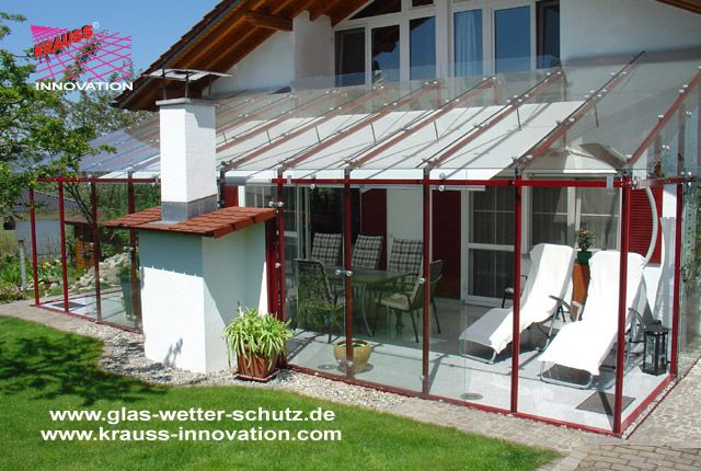 Top Terrassen Verglasung mit Glasschiebetueren direkt vom Hersteller #ZQ_28