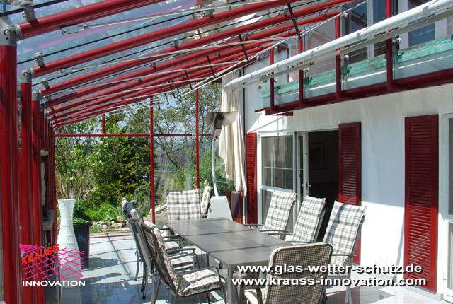 terrassen verglasung mit glasschiebetueren direkt vom hersteller krauss gmbh 88285 bodnegg. Black Bedroom Furniture Sets. Home Design Ideas