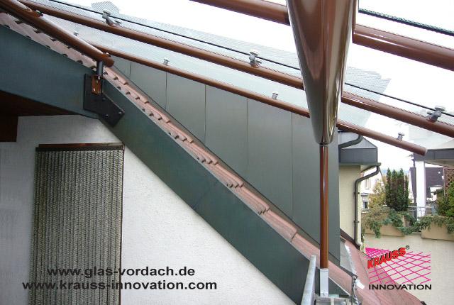 Gut gemocht Glasueberdachung fuer innenliegenden Dach-Balkon direkt vom NH35